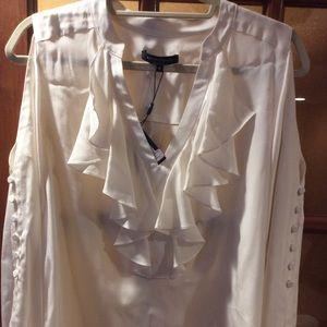 Nanette Lepore cold shoulder blouse